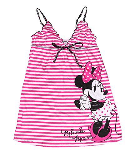 [Disney Minnie Mouse Womens Pajama Nightie T Shirt - Striped Print - Pink] (Minnie Mouse Nose)