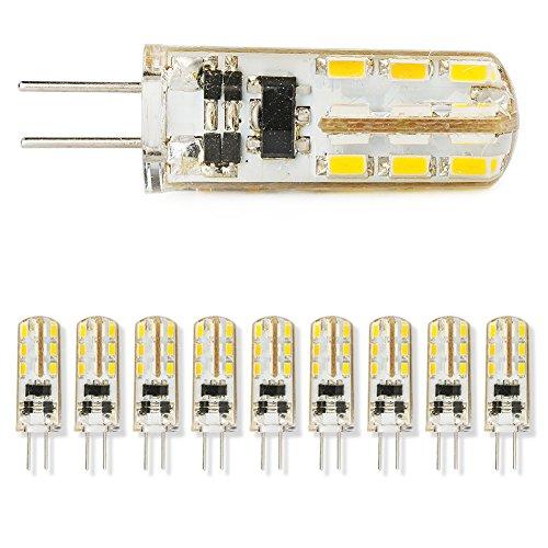 10X G4 Home Garden Warm White 3014Smd Led Spot Light Bulb Lamp 12V 1.5W Crystal