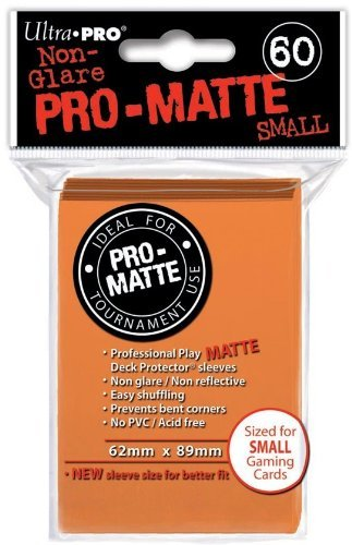 Ultra-Pro Pro-Matte Sleeves - Orange, Small - for Yu-Gi-Oh, Cardfight/CFVG (60 Deck Protectors)