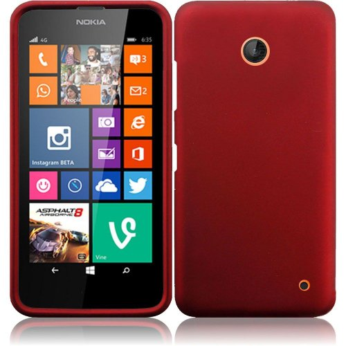 Nokia Lumia 635, EpicDealz (Red) Slim Grip Snap-On Rubberized Hard Plastic Cover Case For Nokia Lumia 635 (Boost Mobile, Metro PCS, T-Mobile, Virgin Mobile) + Mini Stylus Pen + Case Opener (Nokia Lumia 635 Boost Mobile compare prices)