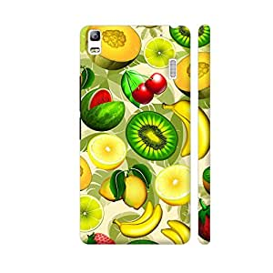 Colorpur Summer Fruits Juicy Pattern Artwork On Lenovo A7000 Cover (Designer Mobile Back Case)   Artist: BluedarkArt