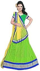 Jay Ambe Creation Women's Viscose Unstitched Lehenga Choli (dno106E, Yellow &...