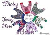 Software - Wicky N�hanleitung mit Schnittmuster auf CD f�r Kinder H�nge-Hose Pumphose Jerseyhose Fletzhose Gr.50-164