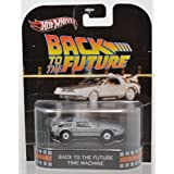 Hot Wheels Retro Back to the Future Time Machine DeLorean Vehicle NIP