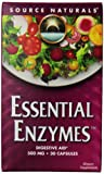 Source Naturals Essential Enzymes 500 Mg Blister Pack - 30 - Capsule