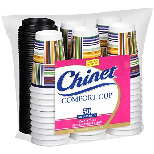 Chinet Comfort Cup (16-Ounce Cups), 50-Count Cups & Lids (Cup Coffee Cup compare prices)