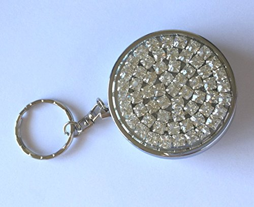 Portable Purse Cigarette Ashtray - High Quality Crystal Glass Rhinestones - USA (Crystal AB)