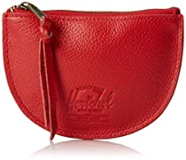 Herschel Supply Co. Dollarton Leather, Red Pebble Leather, One Size