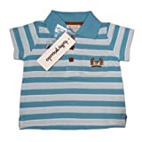 """TUTTO PICCOLO """"Strictly Business"""" Baby Jungen Polo Gestreift (Blau/Türkis)"""