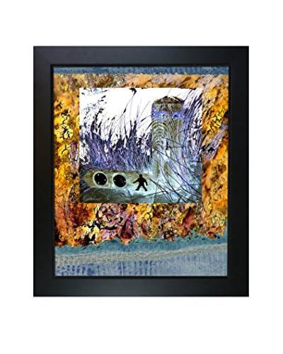 Lisa Carney Man Walking Framed Giclée On Canvas