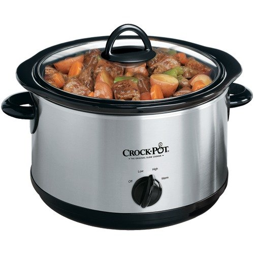 Digital Slow Cookers: CROCK-POT SCR503-UM-NP 5-QUART ROUND MANUAL STAINLESS STEEL SLOW COOKER CROCK-POT SCR503-UM-NP 5-QU