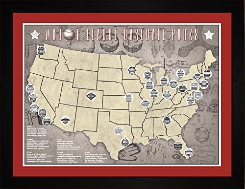 professional-baseball-parks-teams-framed-tracking-map-24x18