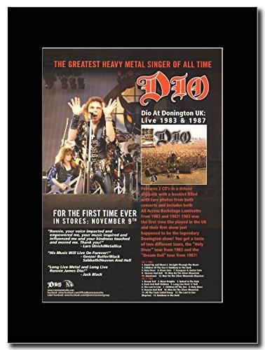 Dio-Donington 1983 & 1987 Magazine Promo su un supporto, colore: nero