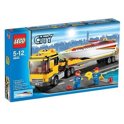 Lego City - 4643 - Jeu de Construction - Le Camion et son Hydrospeed