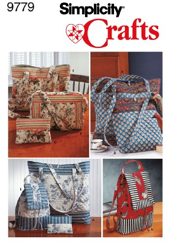 Simplicity Sewing Pattern 9779 Accessories, One Size (Purse Sewing Patterns compare prices)