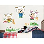 Anself Glückliche Schafe entfernbare Wand-Aufkleber DIY Kinder-Kind-Raum-Dekor-Abziehbild