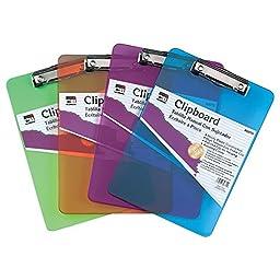 Charles Leonard 89770 Plastic Clipboard Low Profile 9x12.5 Neon