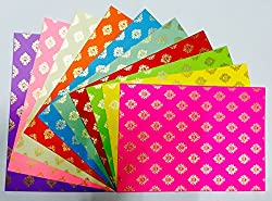 Craftdev Pack Of 10 A4 Size Craft Paper Sheets With Single Side Decorative Pattern