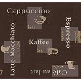 Wachstuch Breite & Länge wählbar - dcfix Kaffee Braun Cappuccino Espresso 3854508 - ECKIG 140 x 960 bzw. 960x140...