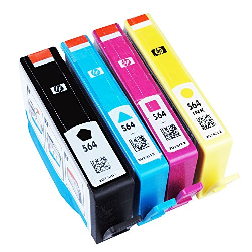 HP 564 Ink Cartridges (1 Black, 1 Cyan, 1 Magenta, 1 Yellow)