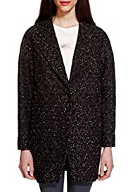 Limited Edition Jacquard Textured Coat with Wool [T69-1604J-S]