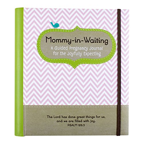 """DaySpring Guided Pregnancy Journal Diary Notebook with Tabbed Sections 8"""" x 8 3/4"""", Mommy-in-Waiting (80102)"""
