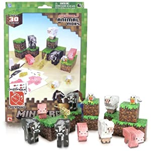 Overworld Animal Mobs Pack: Minecraft Papercraft Kit Series [~30 Pieces]