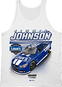 NASCAR Jimmie Johnson # 48 Race Tank Top - White by Checkered Flag