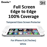 iPhone 6 Screen Protector, Daswise® New Full Screen Design Full Screen Tempered Glass Protector [Full Protection cover 100% Including Curved Edge] Covering Edge to Edge [HD Clear] [Scratch-Resistant] [Bubble Free Easy Installation][Get No Stuck With Case on] Protect Your Screen from Scratches and Drops for 4.7 inches Silver/Gold iPhone 6 (4.7 White)