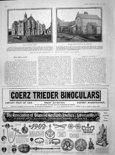 1902 Memorial Library Gladstone Hawarden Binoculars
