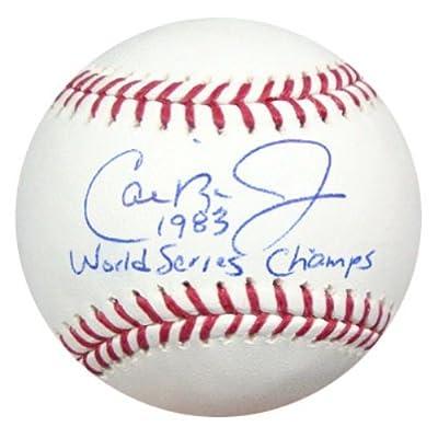 "Cal Ripken Jr. Autographed Official Mlb Baseball Baltimore Orioles ""1983 World Series Champs"" Psa/dna Stock #22190"