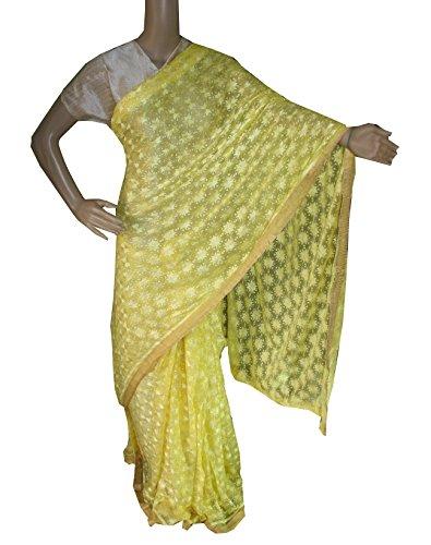 Beautiful RUDA Designer Phulkari Embroidered Saree-JS1124