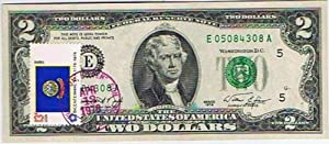 $2.00 Bill / First Day Cover, April 13, 1976