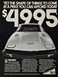 1977 Ad Vintage Triumph TR7 British Sports Car Price - Original Print Ad