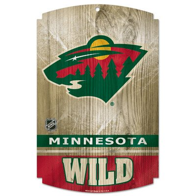 NHL Minnesota Wild Wood Sign