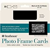 "Strathmore Cards & Envelopes 5'X7"" 10/Pkg-Black Photo Frame"