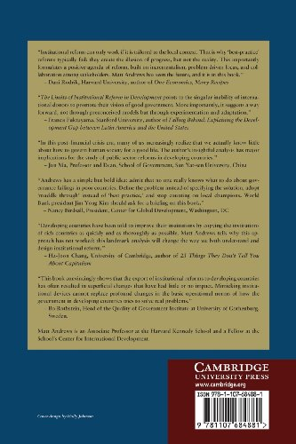 The Limits of Institutional Reform in Development: Changing Rules for Realistic Solutions: Volume 1