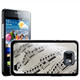 Fancy A Snuggle Close Up Detail of Beautiful Sheet Music Design Hard Case Clip On Back Cover for Samsung Galaxy S2 i9100