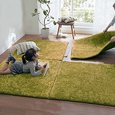 Indoor Area Rugs Home Decorative Soild Square Shaggy Carpet Diy Floor Rug For Children Play