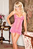 Sheer Mesh Chemise With Floral Lace thumbnail