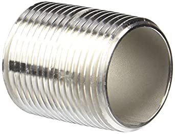 Stainless Steel 304/304L Pipe Fitting, Nipple, Schedule 40 Welded, NPT Male