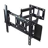 Sunydeal Dual Arm Articulating Tilt & Swivel Flat Screen LCD LED 3D TV Wall Mount Bracket for 60 SHARP LC-60LE847U... by SUNYDEALTM