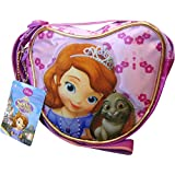 Girls Purple Sofia The First Heart Shoulder Bag with Adjustable Strap