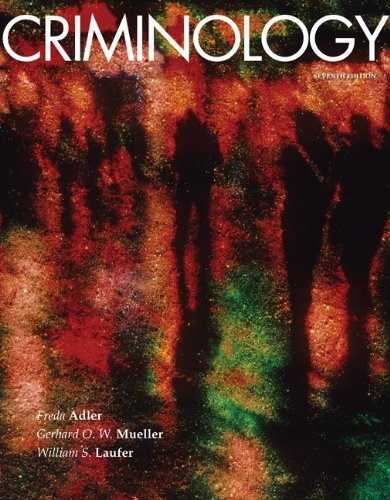 Criminology, 7th Edition