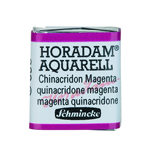 Schmincke Horadam Artists Watercolours - Quinacridone Magenta - Half Pan - (Series 2) (369) (US.ME.9.15-6.89-B06XG371GP.35286)