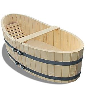 holz badewanne badezuber 178x87cm inkl ablaufhahn amazon. Black Bedroom Furniture Sets. Home Design Ideas