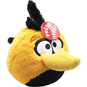 Angry Birds Plush 5-Inch Orange Globe Bird with Sound