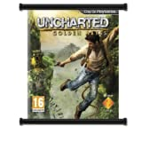 """Uncharted Golden Abyss Game Fabric Wall Scroll Poster (32"""" x 38"""") Inches"""