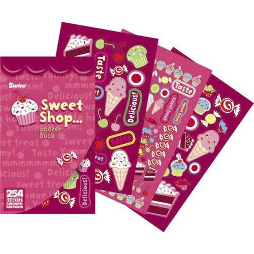 "Sticker Book 9-1/2""X6""-Sweet Shop - 254 Stickers"
