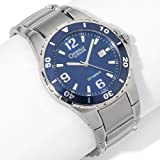 BULOVA Watches:Caravelle Bulova Men-s Blue Diver-s Bezel Sport Watch